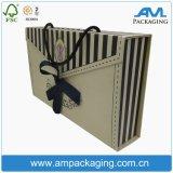 Rectángulo de empaquetado plegable de la impresión de la ropa interior plana del cuadrado con la maneta