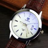 296 het in het groot Horloge van de Kalender van Mens van het Embleem van de Douane met Lichtgevende Wijzer