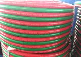 Soldadura oxiacetilénica del manguito de goma gemelo de la soldadura resistente