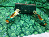 Saco novo de 2017 sapatas da chegada que combina com a tela do laço de Tulle