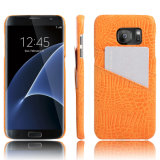 Край Samsung S7 аргументы за мобильного телефона PU картины крокодила кожаный