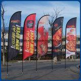 Vente chaude Promotion en plein air Publicité sur mesure Publicité en vol Drapeau en plumes Drapeau de la plage