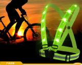 Maglia riflettente dell'alta di visibilità maglia fluorescente di funzionamento LED