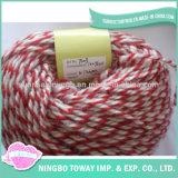 Filato di lana acrilico lavorato a maglia DIY poco costoso all'ingrosso popolare di modo