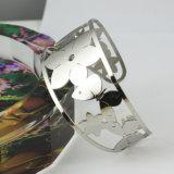 Bracelete de prata de aço inoxidável Hip Hop para jóias masculinas em estoque