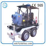 Auto che innesca la pompa ad acqua diesel orizzontale centrifuga per acque luride/fango