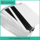 Carte imprimable vierge de PVC de piste magnétique