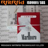 Etiqueta de etiqueta NFC descartável anti-falsificação Hf