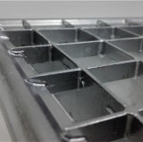 Maglia d'acciaio di griglia per un accantonamento delle 2 file