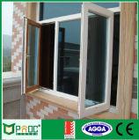Het dubbele Openslaand raam van het Aluminium van het Glas met Australische Norm (PNOC0057CMW)