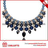 Bobina d'arresto Pendent blu di placcatura della perla della donna di dignità e della collana del diamante