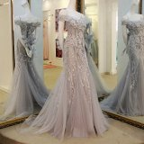 Illusion Evening Dresses Lace Tulle Vestidos Formal Mãe Vestido B24