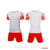 2017高品質のストライプサッカージャージー、空白のサッカーシャツ、昇華サッカージャージー