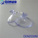 Cuvette en plastique transparente d'aspiration de vide de tête de champignon de couche 30mm de vide intense fait sur commande de Qinuo