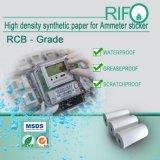 Papier synthétique à haute densité de surface traité pour étiquettes d'autocollants d'ampèremètre