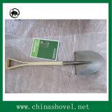 Pala cuadrada de acero ferroviaria de la pala para cultivar y cultivar un huerto