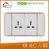 2*13A Mf Elektrische Geschakelde Contactdoos met Neon