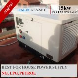 Gerador de gás silenciosa 15kw com gasolina bicombustível, Ng, GPL