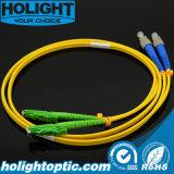 Соединительный кабель FC стекловолокна к желтому цвету E2000A двухшпиндельному Sm