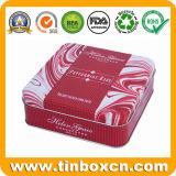 Quadratische verpackende Nahrungsmittelzinn-Kästen, Biskuit-Blechdosen, Plätzchen-Zinn