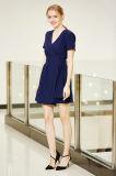 Платье обруча втулки Shorlt плиссированное фронтом твердое миниое