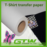 PU покрытие слой темного футболка бумаги для передачи 100% хлопок