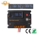 controlador da carga do regulador da bateria do painel solar de 12V/24V 20A LCD
