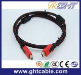 2mナイロン組みひもが付いている高速サポート1080P/2160p HDMIケーブル