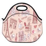 花は昼食のパック袋の小さい子供の女の子の男の子の学校のピクニック食糧クーラーボックスを絶縁した