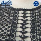 Черный кружевной сетки точки зрения Rear-Zipper тонкий моды платья