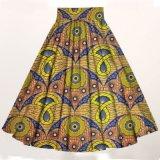 아프리카 인쇄 여자 맥시 치마 앙카라 면 직물
