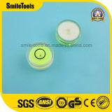 원형 거품 수준 정신 거품 수준 작은 유리병
