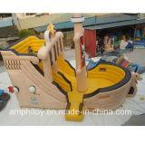 Château gonflable de bateau de pirate avec la glissière