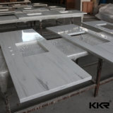 Pierre de quartz blanc synthétique préfabriqué comptoirs de cuisine