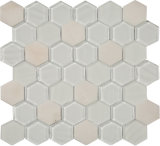 Mosaico de la dimensión de una variable del hexágono para la decoración de la pared