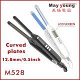 Straightener liso cerâmico do cabelo do ferro dos íons negativos do indicador do LCD da fonte da fábrica