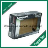 Caja de embalaje plana paquete acanalado con la ventana clara del PVC