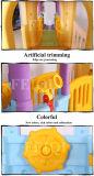 Docteur de jardin d'enfants, cour de jeu d'intérieur d'enfant, combinaison multifonctionnelle, grande glissière, la cour de jeu des enfants, jouets avec la maison de théâtre