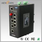 7 de elektrische Haven en 1 Fx beheerden de Industriële Schakelaar van het Netwerk