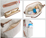 7 pièces Set Stripe Shoulder Baby Changing / Mother / Nappy / Diaper Bag
