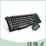 Верхний продавая связанный проволокой комплект разыгрыша мыши клавиатуры комбинированный (KB-C26)