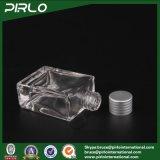 30ml cancelam frascos retangulares/quadrados moldados Emptyglass do perfume de Cosmetc do petróleo da fragrância com tampão de alumínio