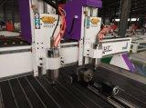 Máquina principal doble del ranurador del CNC de la carpintería del Ce con eje de rotación
