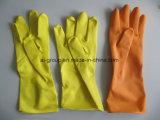 Luvas para uso doméstico de Borracha Natural amarelo para lavandaria