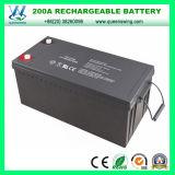 Batería solar recargable sin necesidad de mantenimiento de la batería 12V 200ah (QW-BV200A)