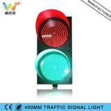 Luz de señal de tráfico 400mm PC Vivienda Calzada Rojo Verde
