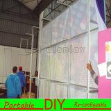 カスタムDIYファブリック携帯用モジュラー形によって曲げられる博覧会の背景幕の壁