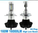 2X P LED scheggia le lampadine 6000K del fascio del kit H/L del faro Hb2 di 160W 16000lm H4 9003