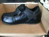 Calçado de couro real para mulheres e homens, calçado de couro, 3000pares, apenas USD1.68/pares