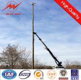Energía eléctrica de acero eléctrica postes de poste con el brazo cruzado